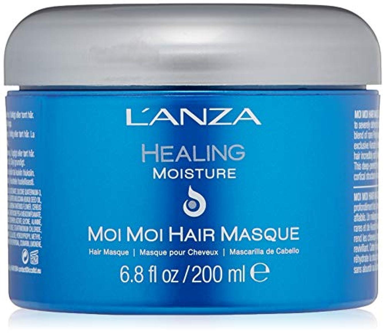 ボトル小石処理するL'ANZA L'ANZAヒーリングモイスチャーモイモイ髪の仮面劇、6.8オンス 6.8オンス