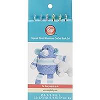 Boye Aluminum Crochet Hook Set, Sizes E4 To J10 by Boye