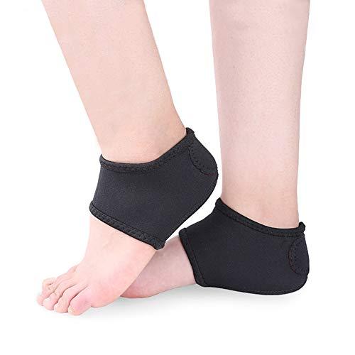 Qicuio【2個入】かかとカバー サポーター パッド 衝撃吸収 保湿 足底筋膜炎 痛みを緩和 男女兼用 (L)