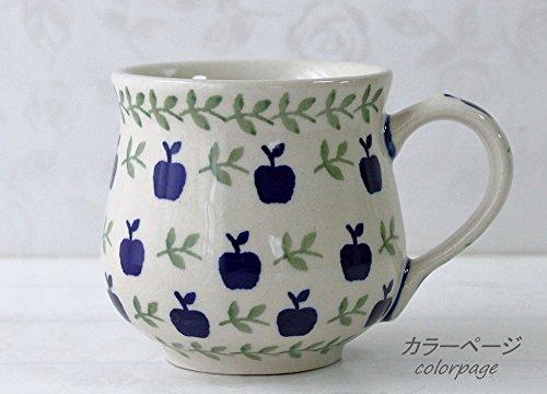 ポーリッシュポタリー (ポーランド食器) りんごマグMS マグカップ りんご模様マグ 220ml | CK52-JK