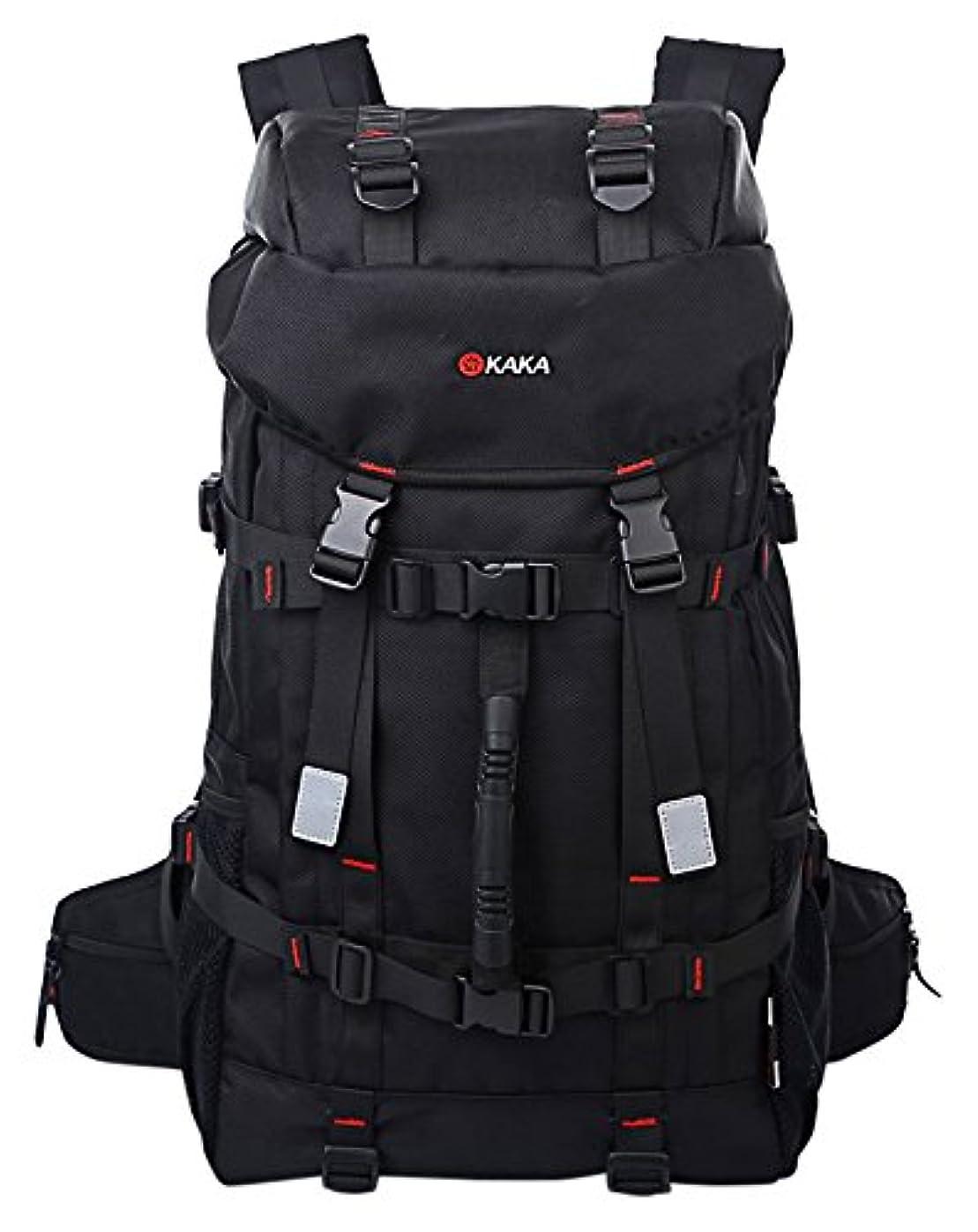 記念碑的な罪人きしむWOLFOUTDOOR アウトドア 登山用バッグ 45L オックスフォード ブラック 通気性 抜群 登山 旅行バッグ