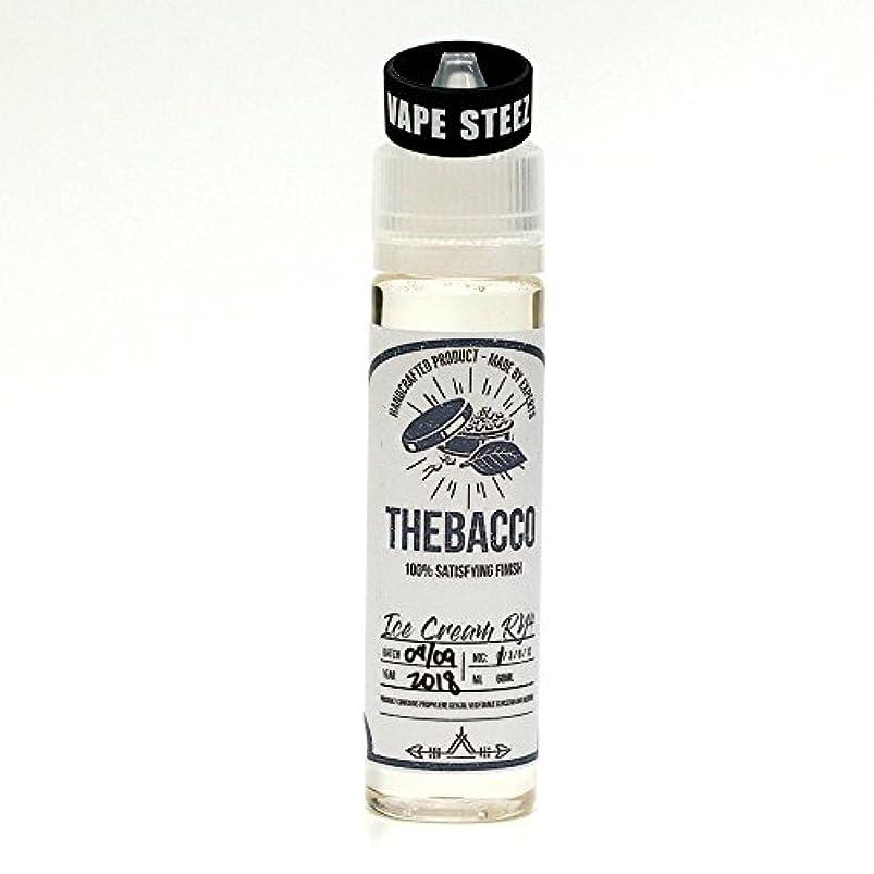 バンジージャンプ押す横電子タバコ リキッド ニコチン0mg THEBACCO E-LIQUID 60ml BAND付き (Ice Cream Ry4, 60ml)