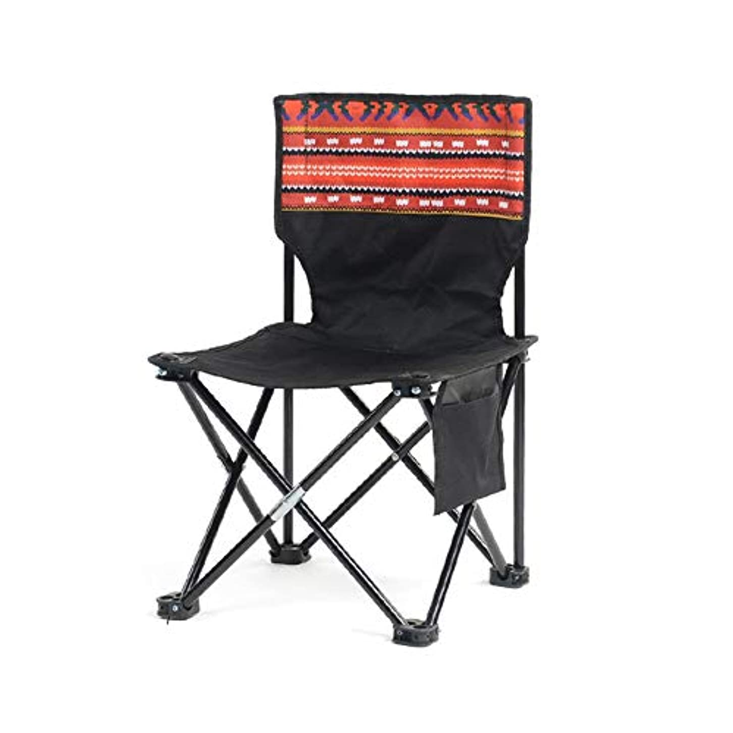 分離スチール精神NEVY 折りたたみ椅子アウトドアチェアキャンプ椅子コンパクト軽量背もたれポータブルチェア釣り登山ハイキング、複数の色があります (色 : Black 2)