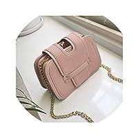 ファッションコントラストカラーつや消しの小さな正方形のバッグ2019新しいフォルダの女性のバッグの潮シングルショルダーメッセンジャーチェーンバッグの韓国語バージョン,ピンク