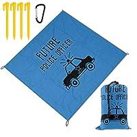レジャーシート 英語 アルファベット車 ピクニックマット防水 携帯便利 150×145cm 2~6人用カ ラビナ付き