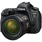 Canon EOS 6D Mark II Advanced Kit with EF 24-70mm f 4 L IS Digital Camera - SLR(6DIIADK) 3Inch Display,Black (Australian warranty)