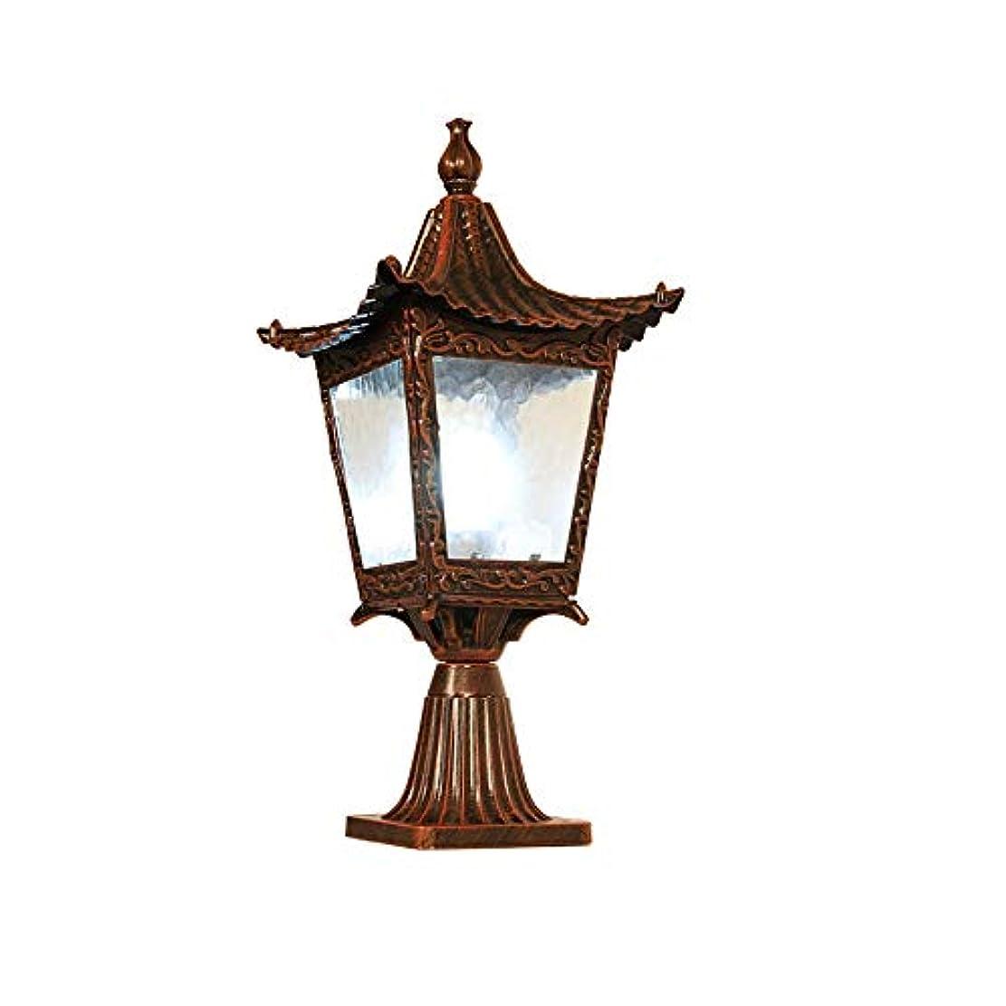 臨検蜂漁師Pinjeer E27防錆屋外アルミガラスポストライトヨーロッパのヴィンテージIP54防水Landsacpe照明コラムランプストリート中庭ドア通路装飾的な柱ライト