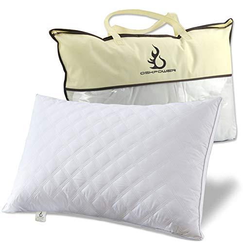 OSKPOWER 安眠 枕 ソフトタイプ 快眠枕 頚椎サポート 人気 健康枕 横向き対応 肩こり対策 立体構造 43x63 CM 丸洗い可能 (2年間保証付き)【改良版】