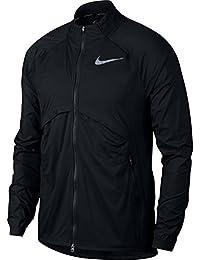 ナイキ シールド コンバーチブル メンズ ランニングジャケット(ブラック、L)