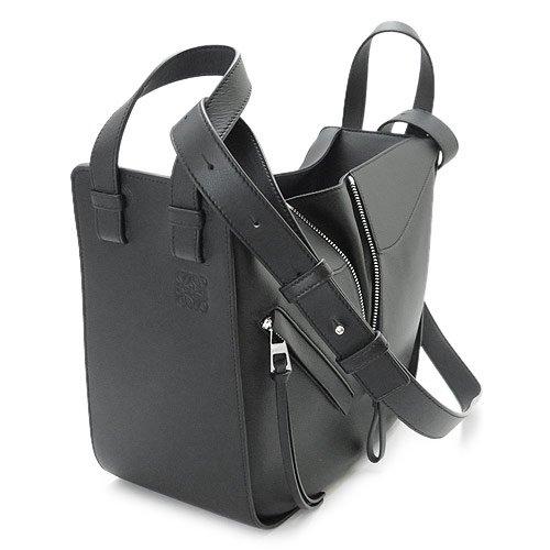 (ロエベ) LOEWE ハンドバッグ 387 30 S35 1100/BLACK ショルダーバッグ ハンモックHAMMOCK SMALL BAG クラシックカーフ レザー ブラック 黒 [並行輸入品]