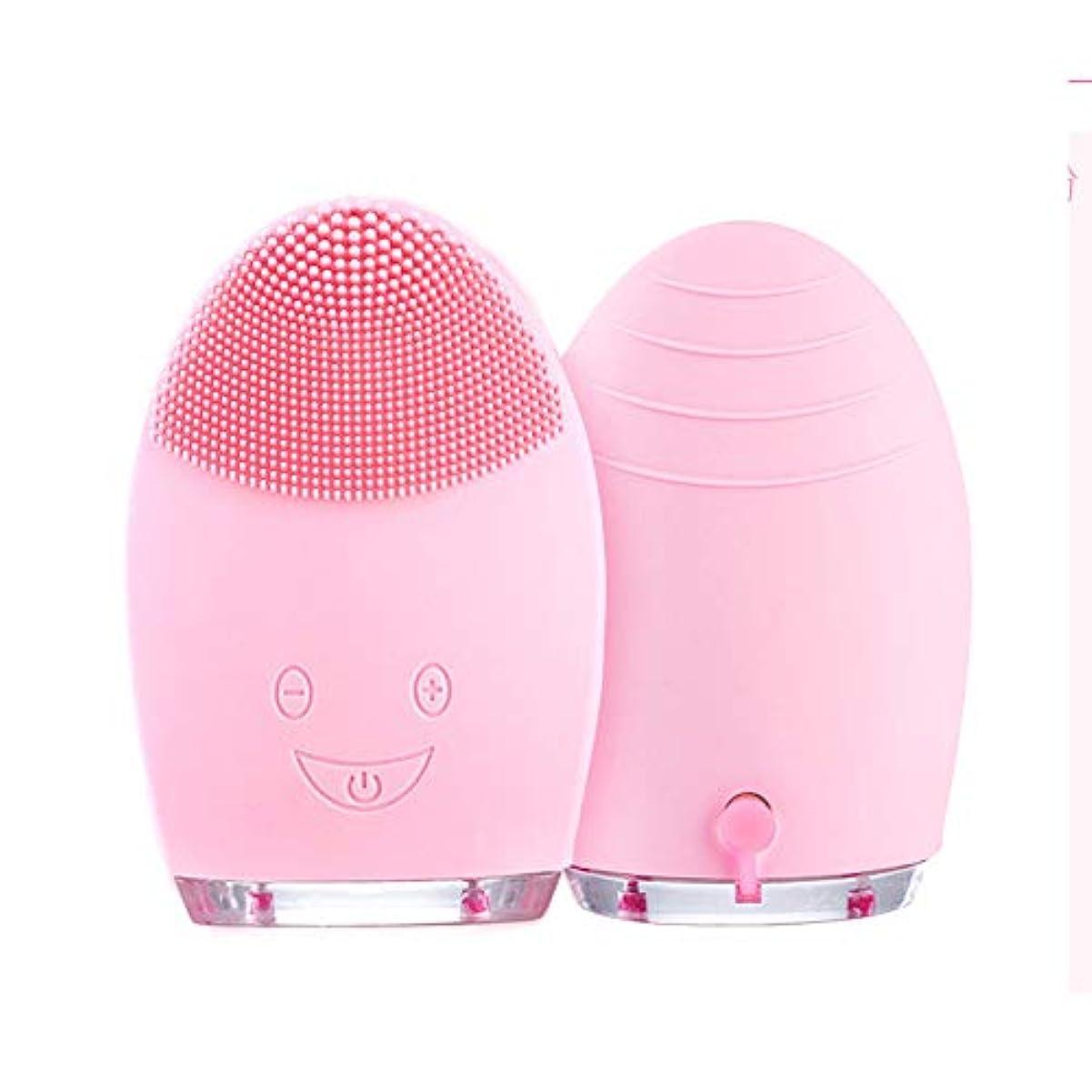 ハイジャック華氏第九電気顔の清潔になるブラシ、超音波表面剥離のブラシの防水マッサージャーの反老化する皮の清潔になるシステム,Pink