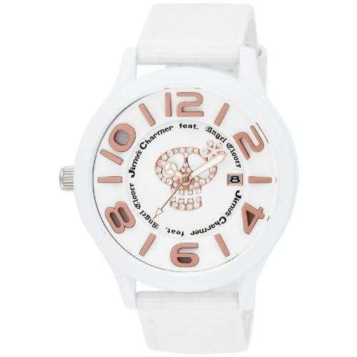 [エンジェルクローバー]Angel Clover 腕時計 JimysCharmerコラボモデル ホワイト文字盤 500本限定 ポリカーボネイトケース ナイロン/カーフ革ベルト JC48WH メンズ