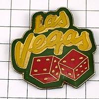 限定 レア ピンバッジ ラスベガスのサイコロ/USAアメリカ賭事カジノ ピンズ フランス