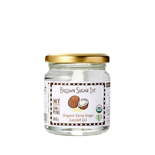 オーガニック エキストラバージン ココナッツオイル 165g (有機 化学調味料無添加 砂糖不使用 100% 天然 非加熱 中鎖脂肪酸 ブラウンシュガーファースト)