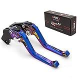 FXCNC Racing オートバイの短い調整可能な3Dメッキブレーキクラッチレバーフィット Suzuki GSR750/GSX-S750 11-18,SV650 16-18,GSXR1000 01-04,DL650/V-STROM 11-18,TL1000S 97-01,SV650 16-18