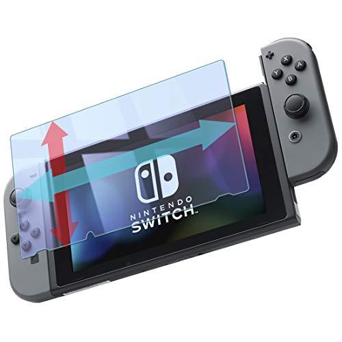 【Nintendo Switch 6.2インチ対応】 大きめサイズ ブルーライトカット 1枚組 日本メーカー 全面保護 ガラスフィルム 強化ガラス 9H 実機測定済 [指紋防止 気泡ゼロ 防汚] 0.3mm 【実機確認済】 2.5D 液晶 保護フィルム 任天堂 スイッチ Switch Blue1