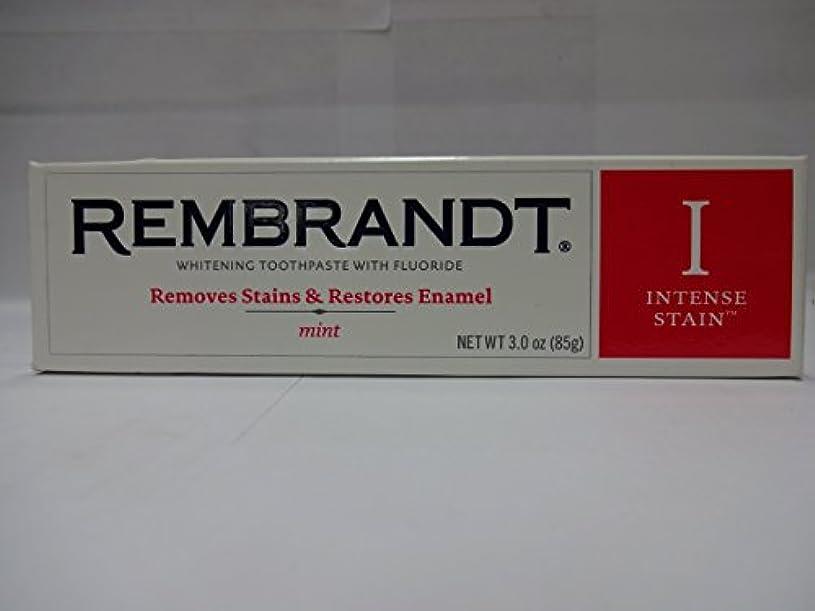 承認するセッション統合するRembrandt フッ化物、ミント3オズ(6パック)との激しいステインホワイトニングハミガキ