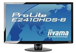 iiyama 24インチワイド液晶ディスプレイ 1920×1080(フルHD1080P)対応 3系統入力装備 マーベルブラック PLE2410HDS-B1
