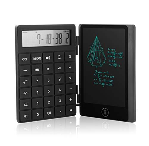 電子メモ デジタルメモ 電卓メモ 電子パッド 保存可 充電可 薄い 6インチ ブラック
