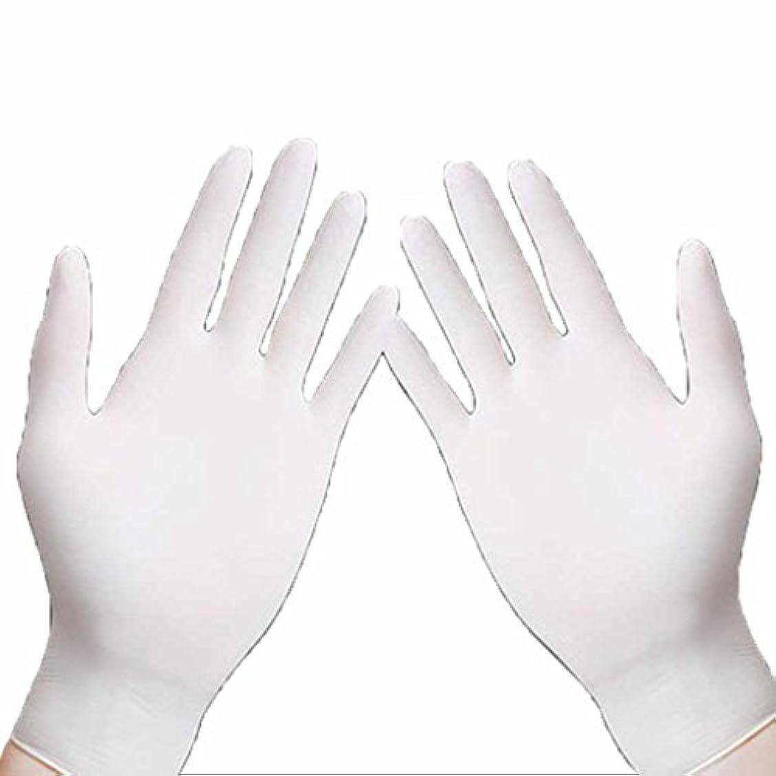 警官不適水曜日使い捨て手袋 ホワイトニトリル防水通気性使い捨て手袋高弾性抗公害緑の手袋 (Size : S)
