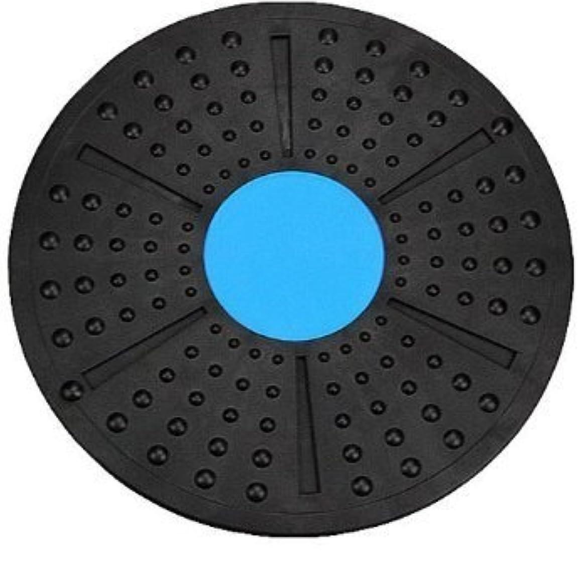 怪しい引き受ける農民体幹トレーニング ダイエット エクササイズ メディカルサポート バランスボード 2色 これ1つで全身運動 (青×黒)