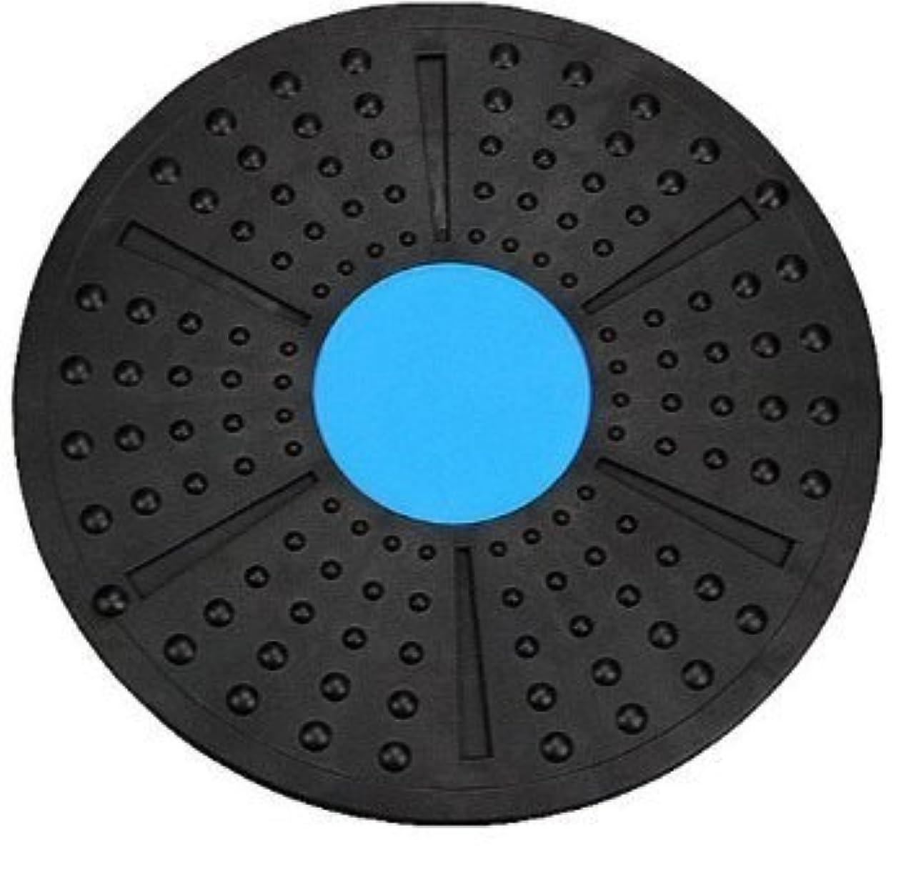 一時解雇する合金気がついて体幹トレーニング ダイエット エクササイズ メディカルサポート バランスボード 2色 これ1つで全身運動 (青×黒)