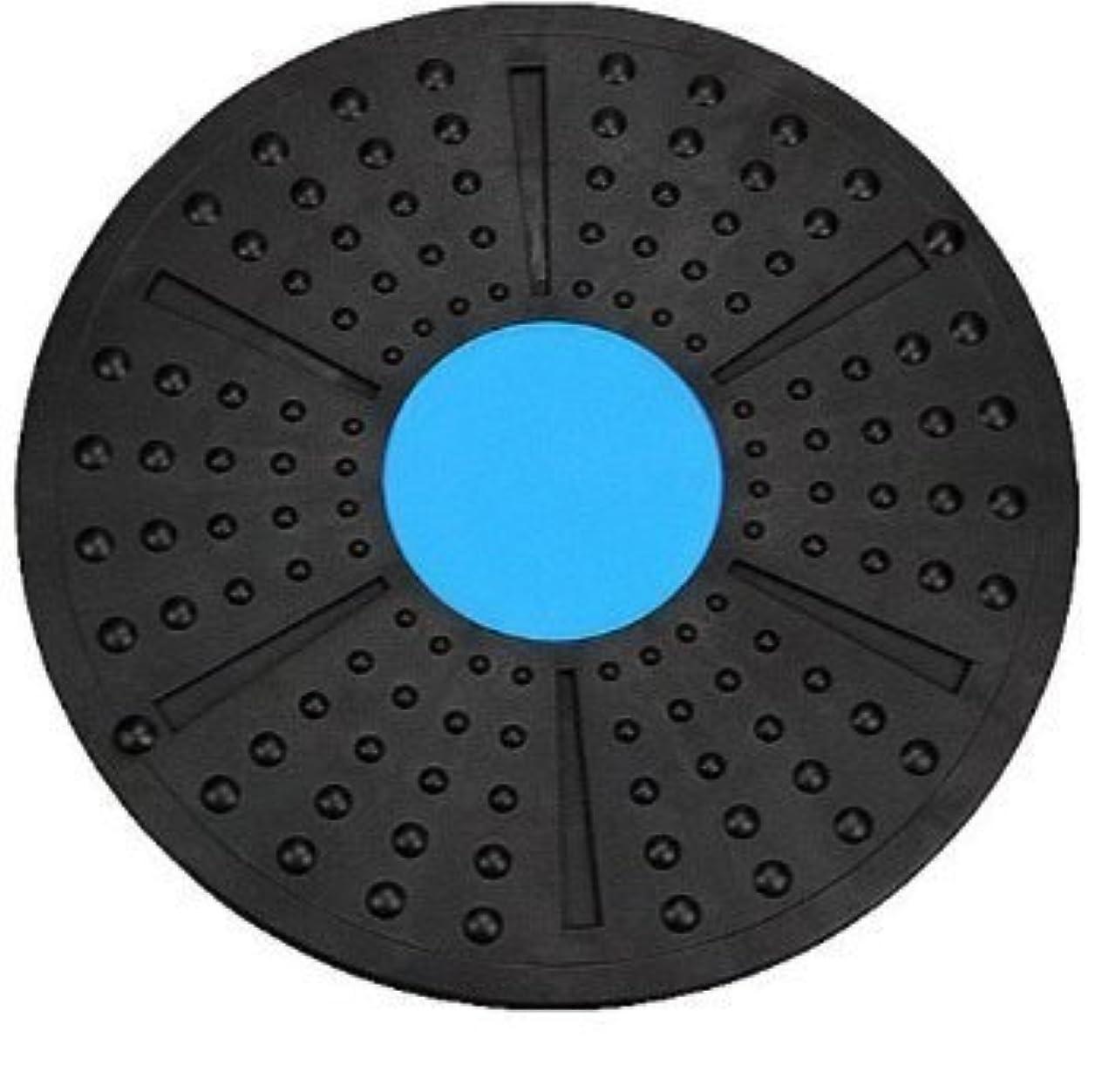 うま定義するバター体幹トレーニング ダイエット エクササイズ メディカルサポート バランスボード 2色 これ1つで全身運動 (青×黒)