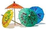 GET!ON おしゃれ BAR グッズ 用品 爪楊枝 ビーチ パラソツ 型 傘 カクテル 飾り フルーツピック 料理の飾り用 販売 50本入 (和色丸傘)