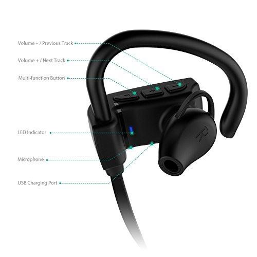 AUKEY bluetooth イヤホン ワイヤレス イヤホン マイク付き 耳掛け式 Bluetooth 4.1対応 EP-B14