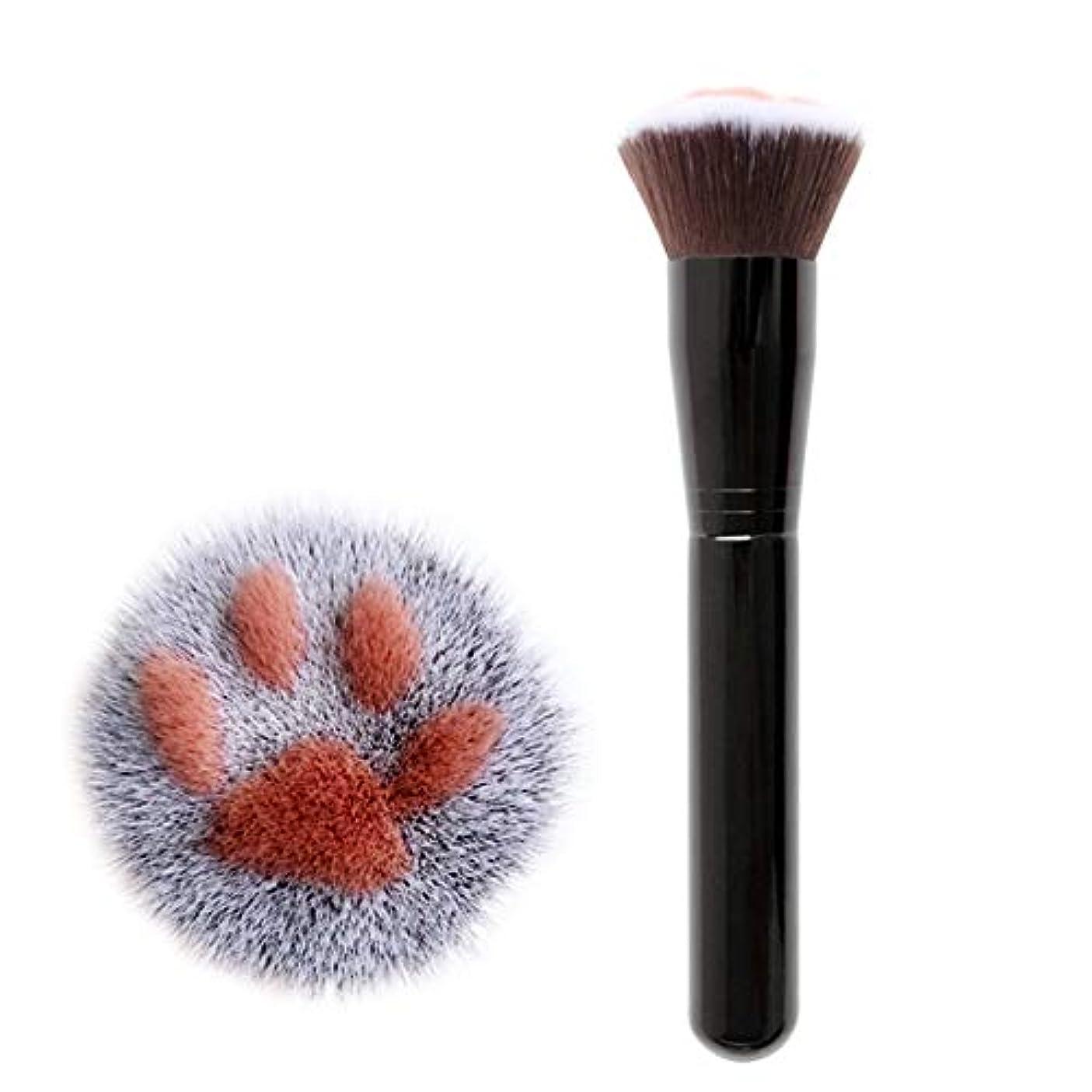 ガムペンス反対するTerGOOSE メイクブラシ 化粧筆 専用メイクブラシ アイシャドウブラシ ブラシ 猫の爪 高級繊維毛 コスメ 高品質 目元 可愛い 快適な 安全性 オシャレ 人気 ギフト(ブラック)