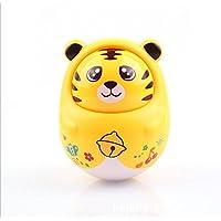 wanrane Cute Kids Roly - Poly Toy環境に優しいCartoon子Nod TigerタンブラーRattle教育玩具(イエロー)