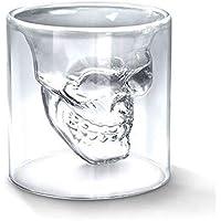 NITIUMI ショットグラス 75ml スカルカップ 髑髏型 ビールグラス ウイスキーガラス ビジネス 贈り物 プレゼント