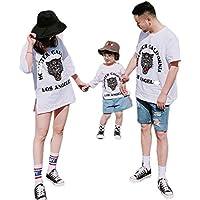 (JUTAOPIN)親子ペアルック t シャツ おそろい 親子服 おしゃれ 親子ペア tシャツ 半袖 夏 大きいサイズ S M L XL 2XL 3XL