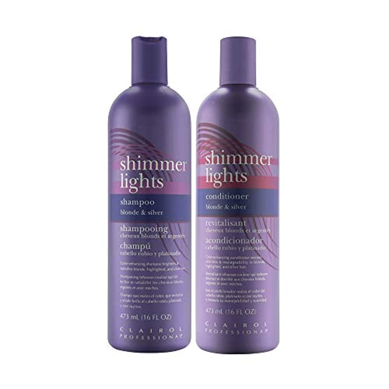 甘味責める主権者Clairol Shimmer Lights 475 ml Shampoo + 475 ml Conditioner (Combo Deal) (並行輸入品)