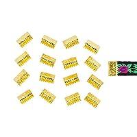 """Twilight 's Fancy 150pcsアーティザンシリーズリボンクランプ–- Noループ 10mm (3/8"""") ゴールド RC150-10-NL-G"""