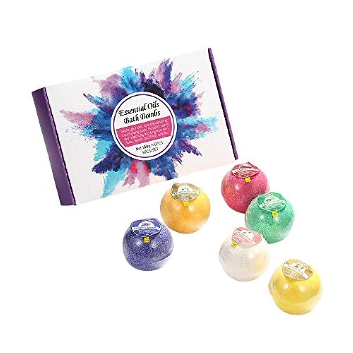 イタリック額感嘆お風呂爆弾セット-海塩dndエッセンシャルオイルバスボール、彼女/彼のための最高の誕生日プレゼントのアイデア