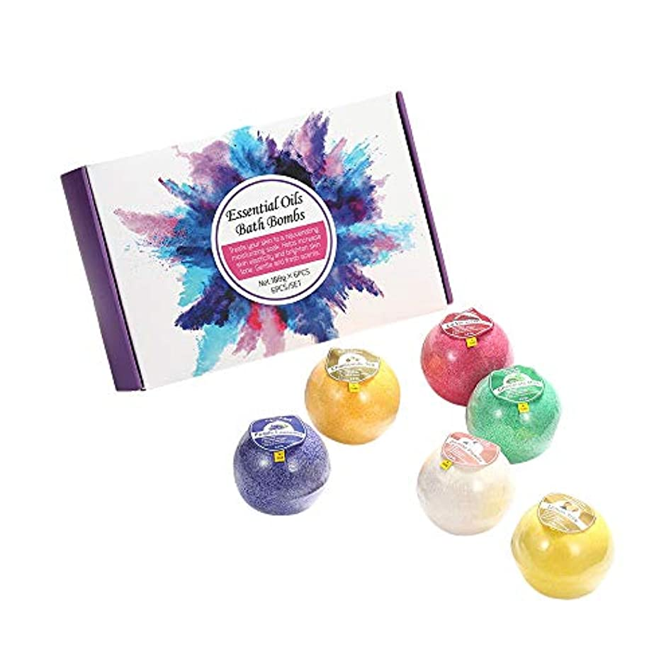 子猫賛美歌添付お風呂爆弾セット-海塩dndエッセンシャルオイルバスボール、彼女/彼のための最高の誕生日プレゼントのアイデア
