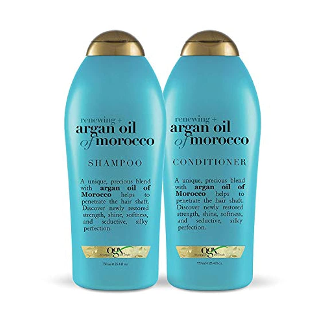 視聴者北極圏前部OGX Renewing Argan Oil of Morocco Shampoo & Conditioner 1セット (25.4 fl. Oz.) [海外直送品 ]