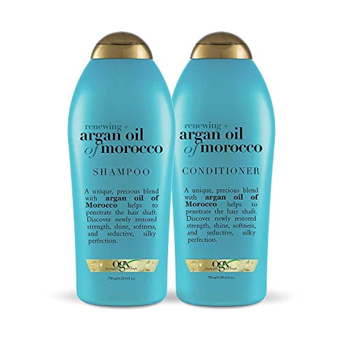 姉妹謎めいたモッキンバードOGX Renewing Argan Oil of Morocco Shampoo & Conditioner 1セット (25.4 fl. Oz.) [海外直送品 ]