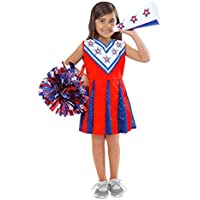 Melissa & Doug Cheerleader Role Play Costume Dress-Up Set With Realistic Accessories [並行輸入品]