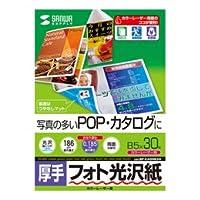【まとめ 2セット】 サンワサプライ カラーレーザー用フォト光沢紙・厚手 LBP-KAGNB5N