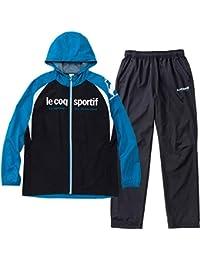 ルコックスポルティフ(le coq sportif) ウィンドジャケット&ロングパンツ 上下セット(ブルードゥシャンパーニュ/ブラック) QMMMJF20-BDC-QMMMJG20-BLK