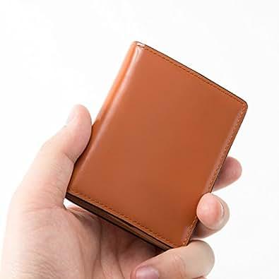 本革 小銭入れ コードバン コインケース 小さい財布 カードケース ボックス型 レザー 馬革 メンズ レディース (ブラウン)   小銭入れ