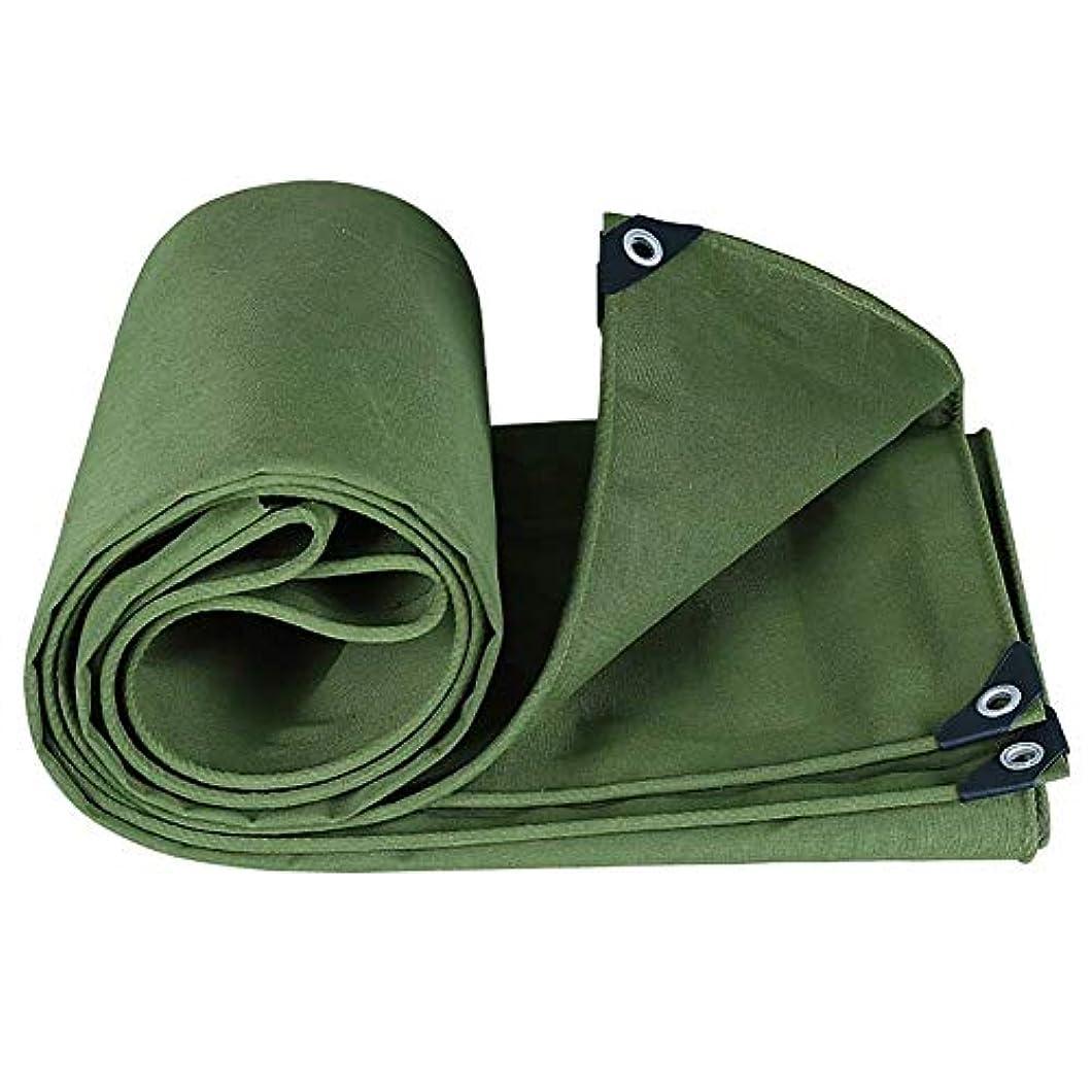 染料グローバルアクチュエータ19-yiruculture 厚い防水キャンバス多目的リバーシブル、グリーン、550g / m 2 (サイズ : 4x8M)