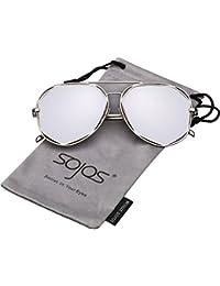 SojoSソホス サングラス、ユーセックス ファッション メダルフレーム UV400 SJ1004