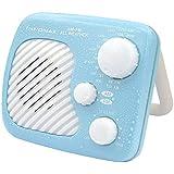 iNNOMAX Shower Waterproof AM/FM Radio, Splash Proof Radio with Speaker for Bathroom (Blue)
