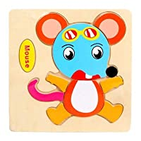 POOMをホットな新ベビーおもちゃかわいい漫画動物木製 3D パズル子供タングラム形状パズル · インテリジェンス · 子供のギフト知育玩具