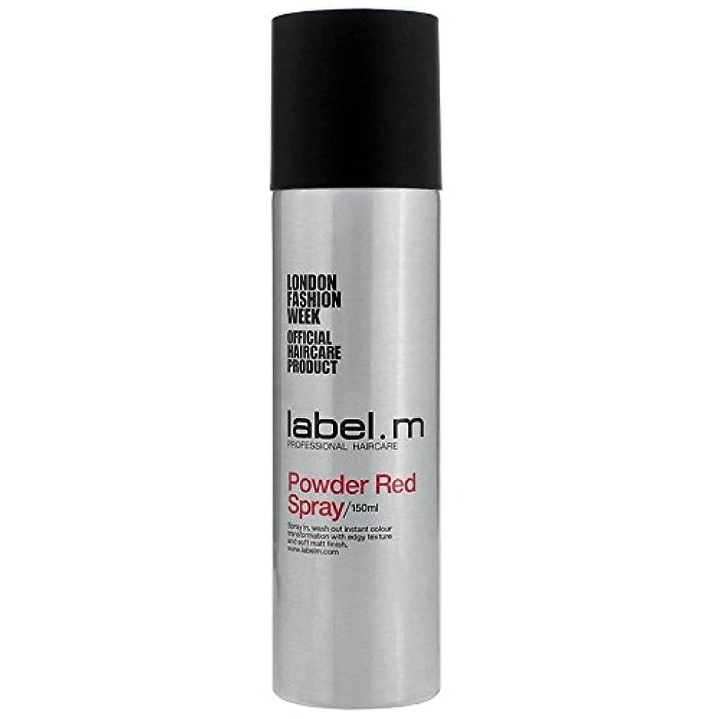 アプトステートメントブラウズLabel.M Professional Haircare ラベルMパウダーレッドスプレー5オズ 5オンス
