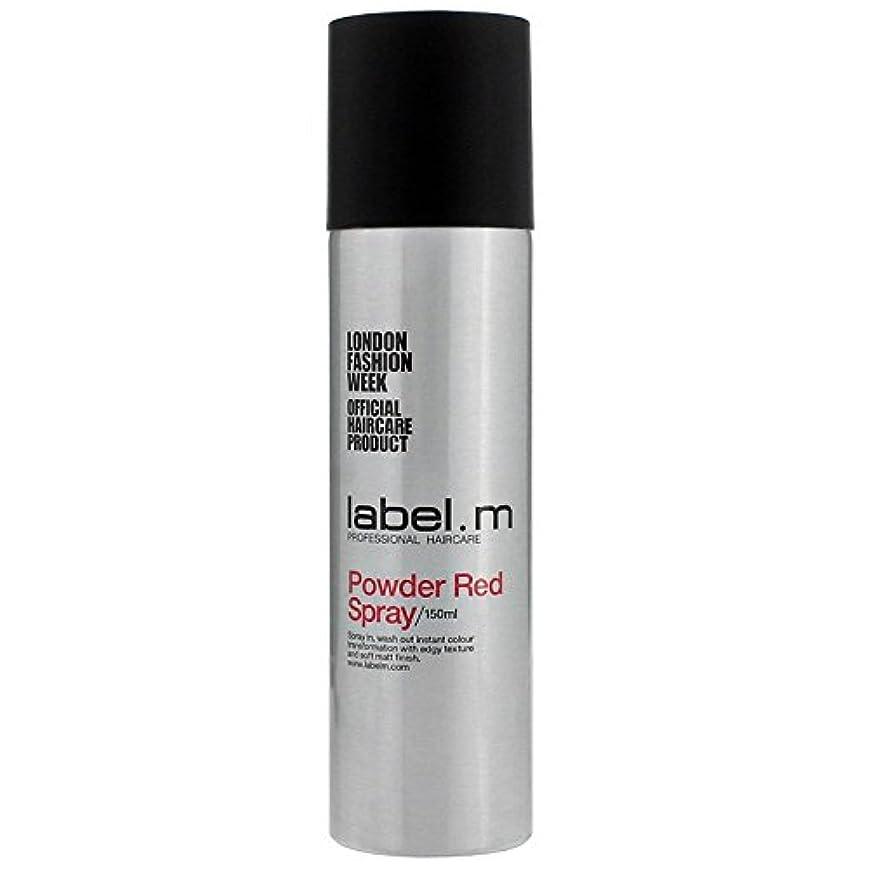 尋ねる湿気の多いほこりLabel.M Professional Haircare ラベルMパウダーレッドスプレー5オズ 5オンス
