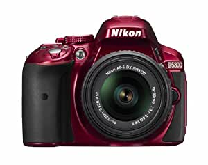 Nikon デジタル一眼レフカメラ D5300 18-55mm VR II レンズキット レッド 2400万画素 3.2型液晶 D5300LK18-55VR2RD